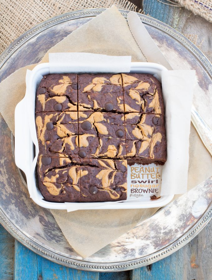 Brownies Vegan all'Acqua Senza Zucchero | Senza Glutine