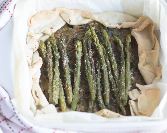 torta salata light agli asparagi vegan
