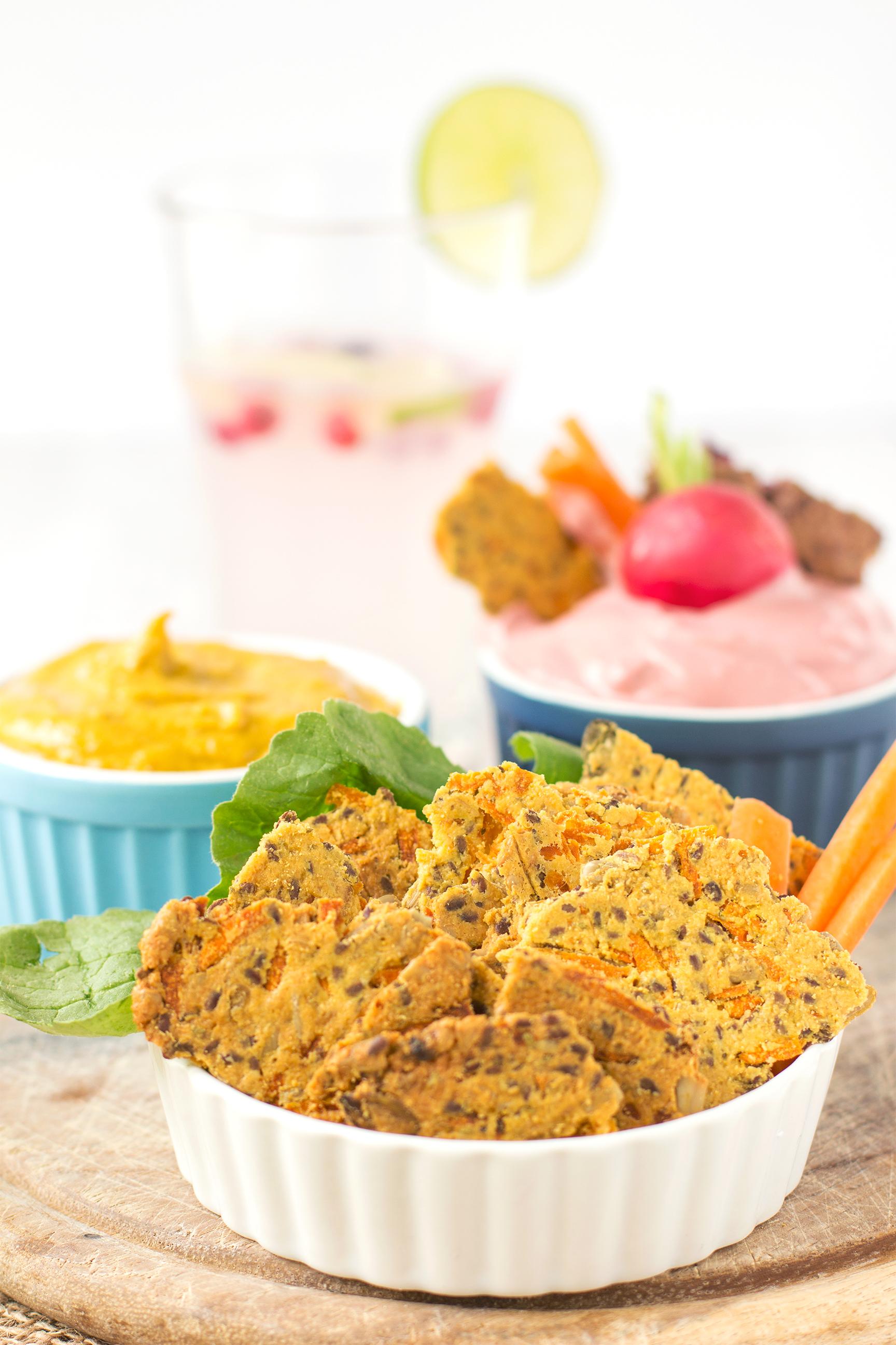 SUPERFOOD CRACKERS alle CAROTE e MANDORLE facili e veloci. #Senzaglutine #vegan, senza farina, senza olio e buonissimi! | Almond superfood carrot crackers| #vegan #glutenfree oilfree sugarfree