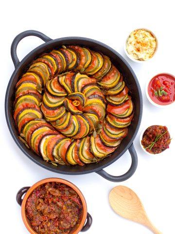 RATATOUILLE di VERDURE in padella // sana, dietetica, facile e veloce // yummy #vegan #senzaglutine |ONE-PAN RATATOUILLE healthy, easy and delicious tian // #veggies #vegan #glutenfree