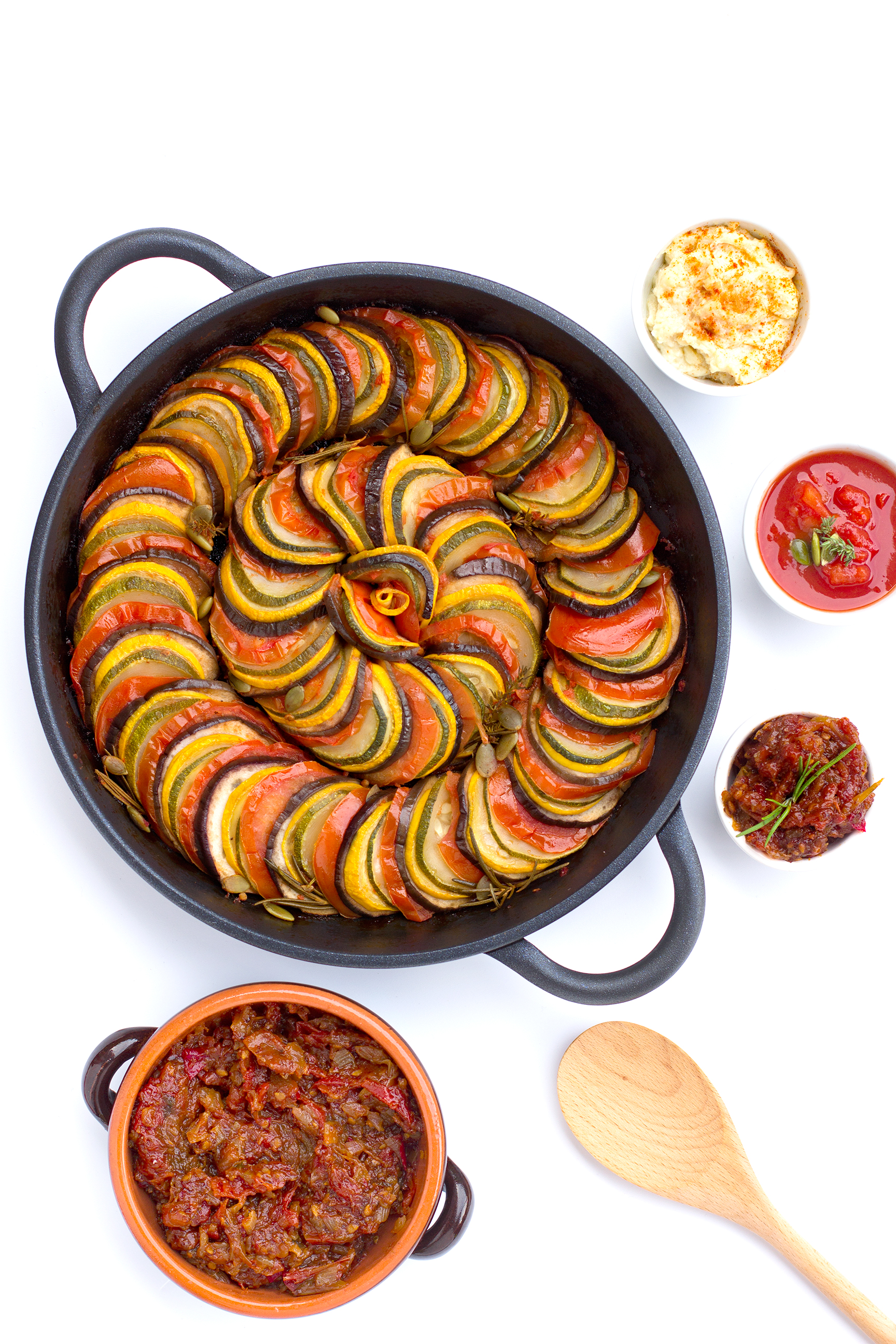 RATATOUILLE di VERDURE in padella // sana, dietetica, facile e veloce // yummy #vegan #senzaglutine |ONE-PAN RATATOUILLE healthy, easy and delicious tian // #veggies #vegan #glutenfree
