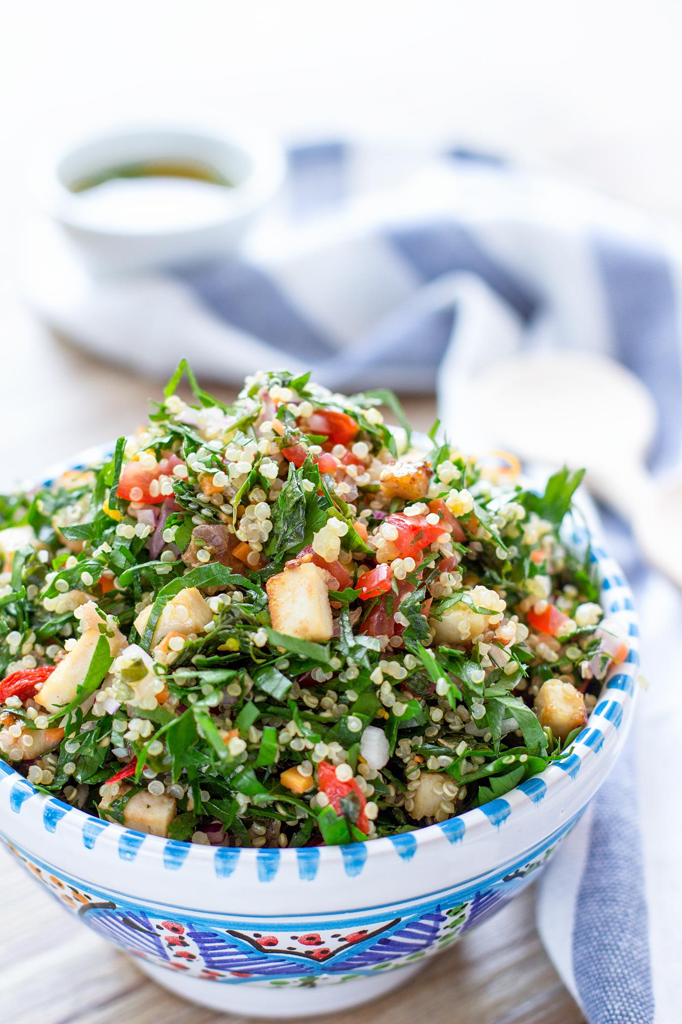 A DELICIOUS Vegan Glutenfree QUINOA TOFU TABBOULEH|Insalata di prezzemolo e quinoa | Tabbouleh di quinoa e tofu con zenzero e peperoncino vegan #senzaglutine