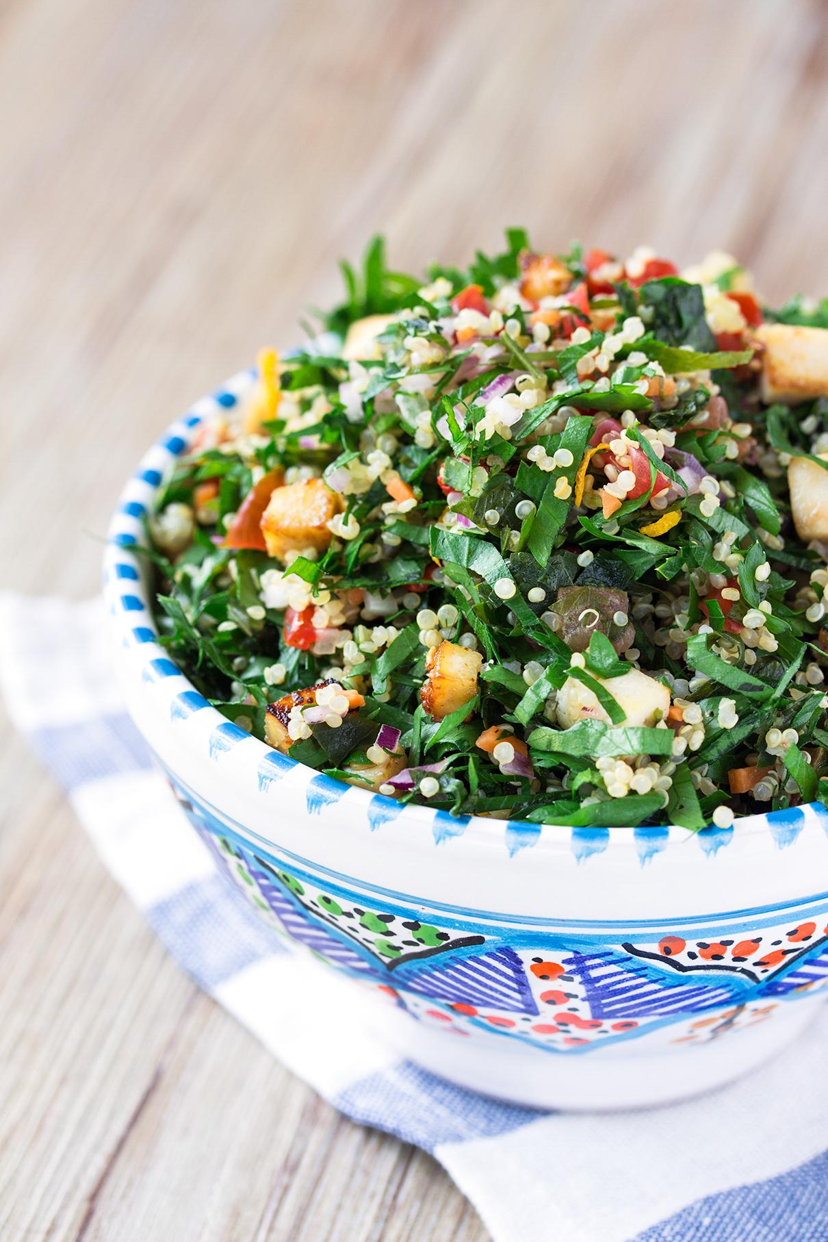 TABBOULEH DI QUINOA e TOFU | Vegan + Senza Glutine