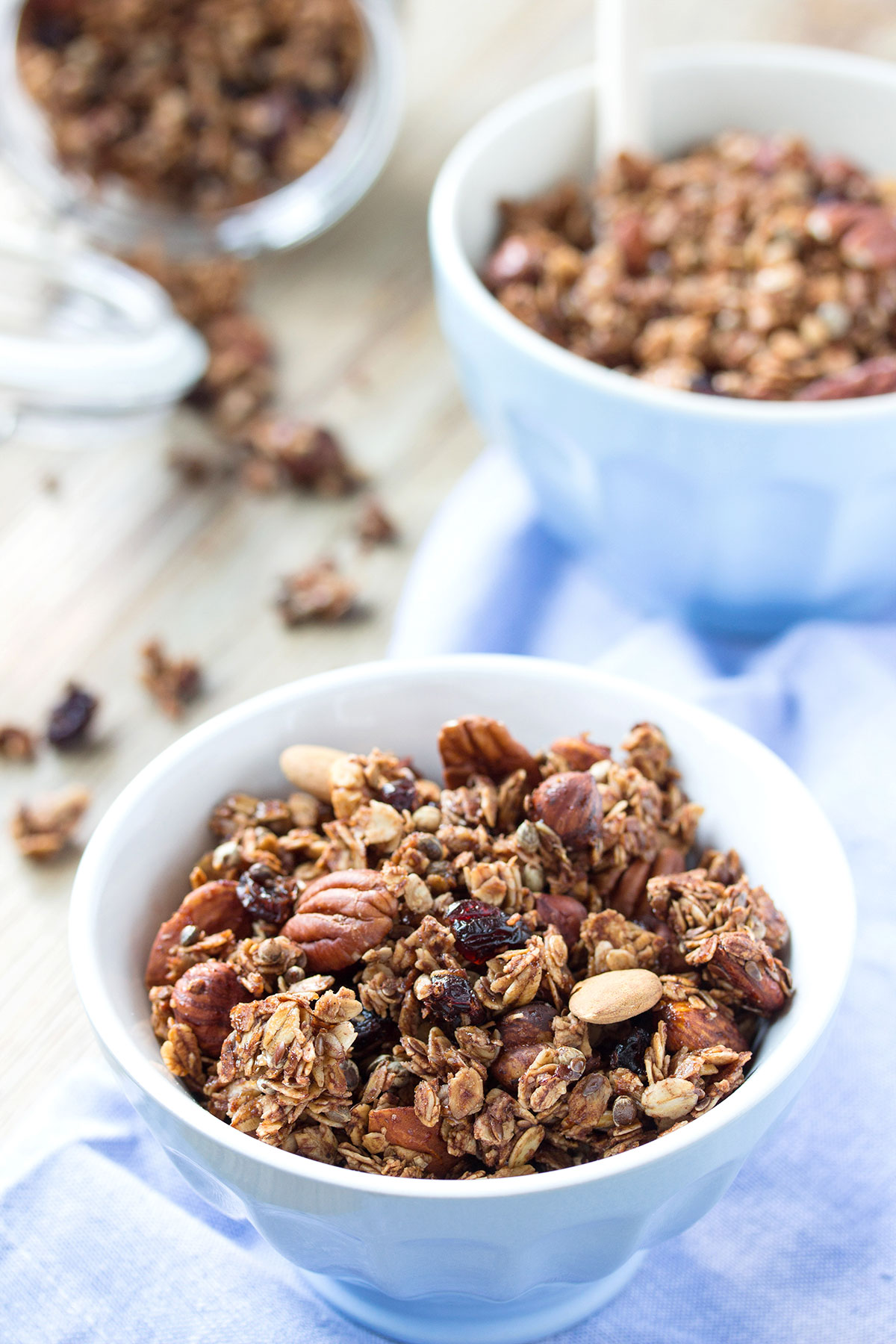 crunchy spiced nut #granola clusters #autumn granola recipe with oats buckwheat - vegan-glutenfree ricetta granola croccante cacao cannella nocciole noci mandorle granola autunnale #vegan #senzaglutine