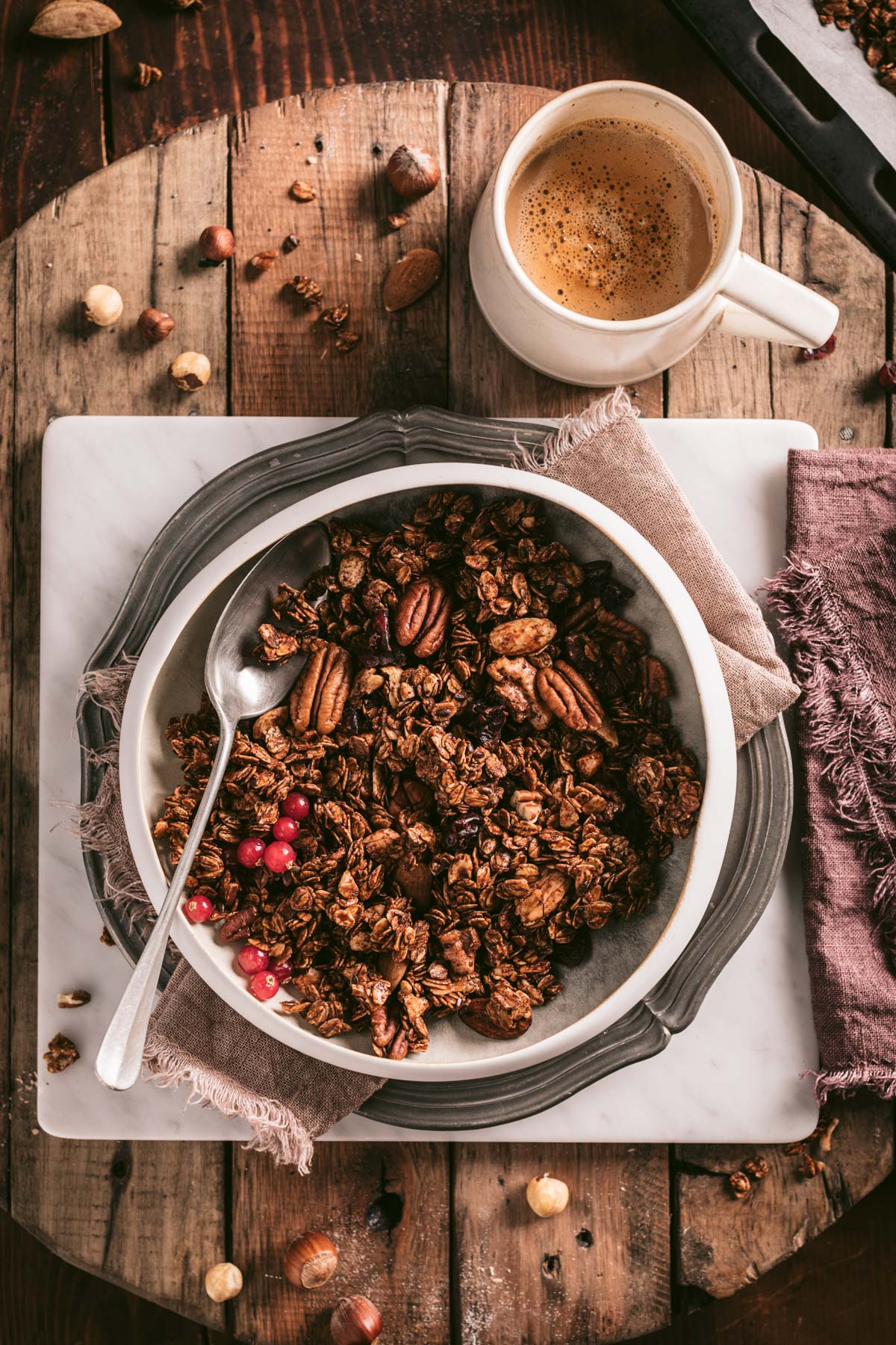 ricetta granola croccante cacao light facilissima the best vegan crunchy spiced nut granola clusters autumn granola recipe with oats buckwheat gluten-free