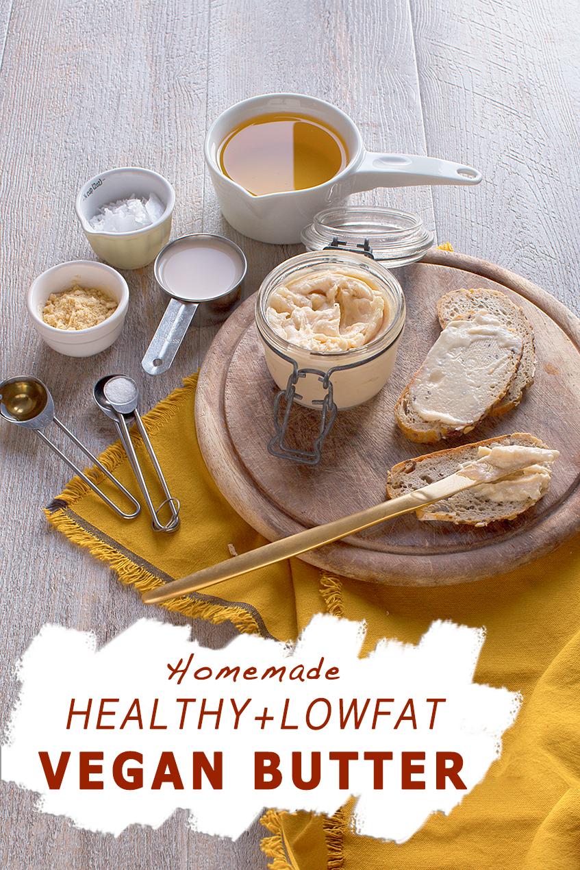 healthy lowfat homemade easy vegan butter // burro vegan all'olio fatto in casa facile ricetta perfetta