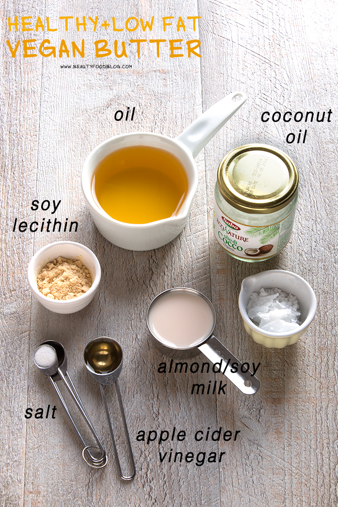 healthy lowfat homemade easy vegan butter recipe // ricetta margarina vegetale all'olio fatta in casa facile