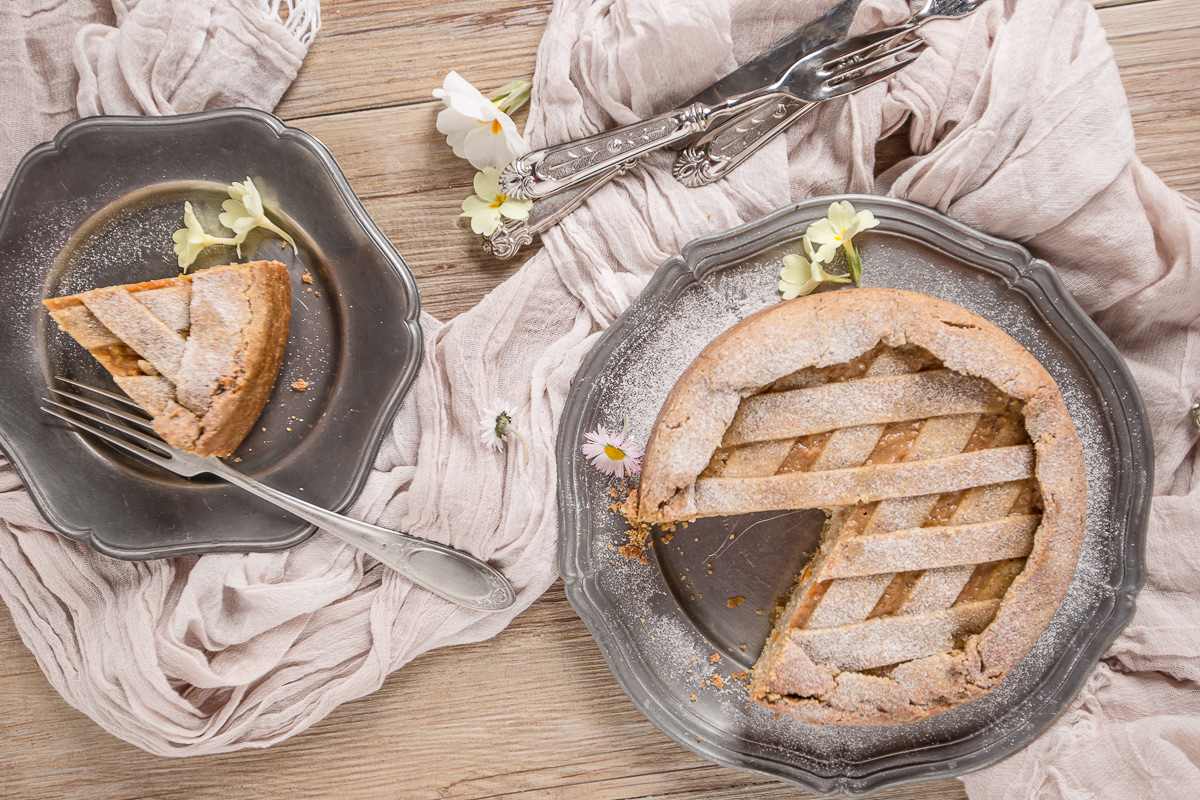 vegan buckwheat yogurt tart #glutenfree #crostata recipe with vanilla and millet ricetta pastiera vegan senza glutine crostata vegan senza glutine al grano saraceno e yogurt