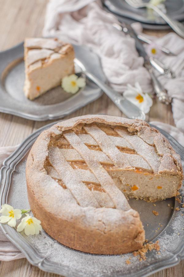 vegan glutenfree buckwheat yogurt tart #vegan #crostata recipe with vanilla and millet ricetta pastiera vegan senza glutine crostata vegan senza glutine al grano saraceno e yogurt