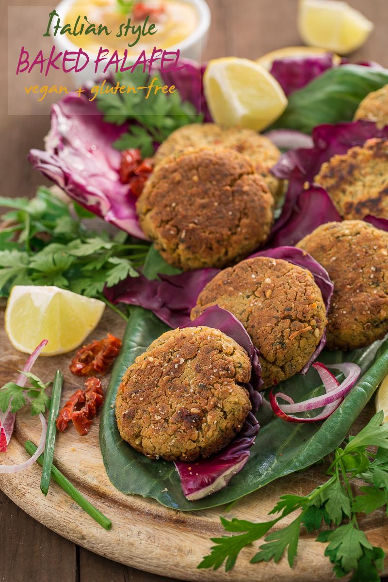 easy VEGAN BAKED FALAFEL recipe with sun dried tomato #falafel #glutenfree #vegan : ricetta falafel al forno o falafel in padella facili e sani vegan #senzaglutine