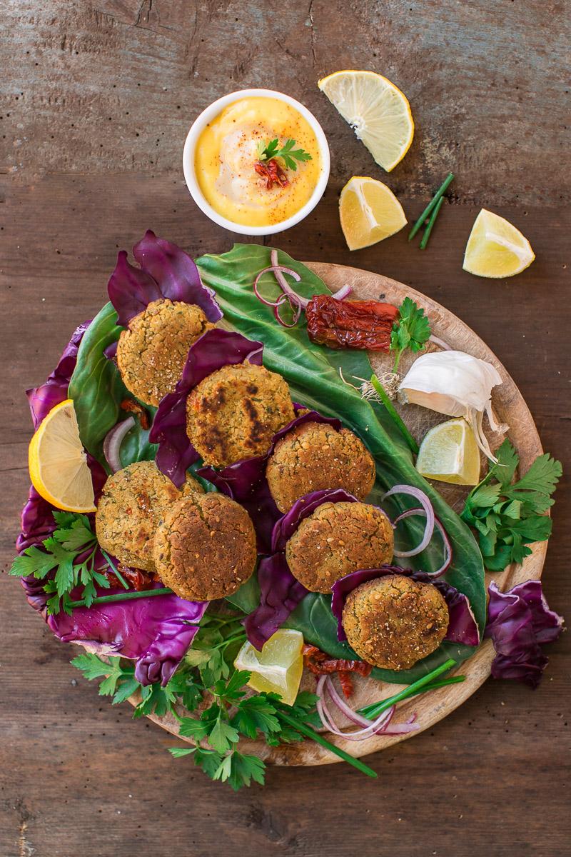 vegan baked falafel recipe #vegan #glutenfree delicious - ricetta falafel al forno sani e veloci senza uova senza burro vegani senza glutine