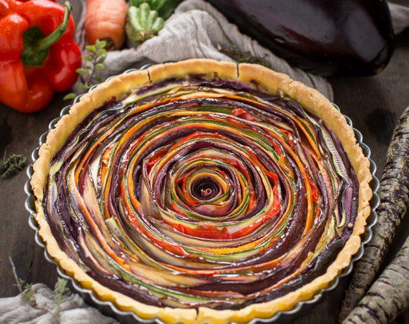 vegan #glutenfree vegetable spiral tart recipe | ricetta torta salata di verdure a spirale senza glutine senza uova senza burro vegan