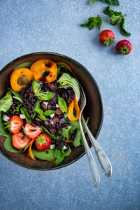 black rice salad bowl insalata di riso venere #vegan #glutenfree