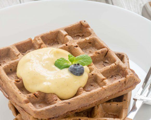 #vegan #mango #waffles with mango sauce and mango #mayo #glutenfree |waffles al mango senza uova con crema di mango e vaniglia ricetta waffles vegan senza glutine