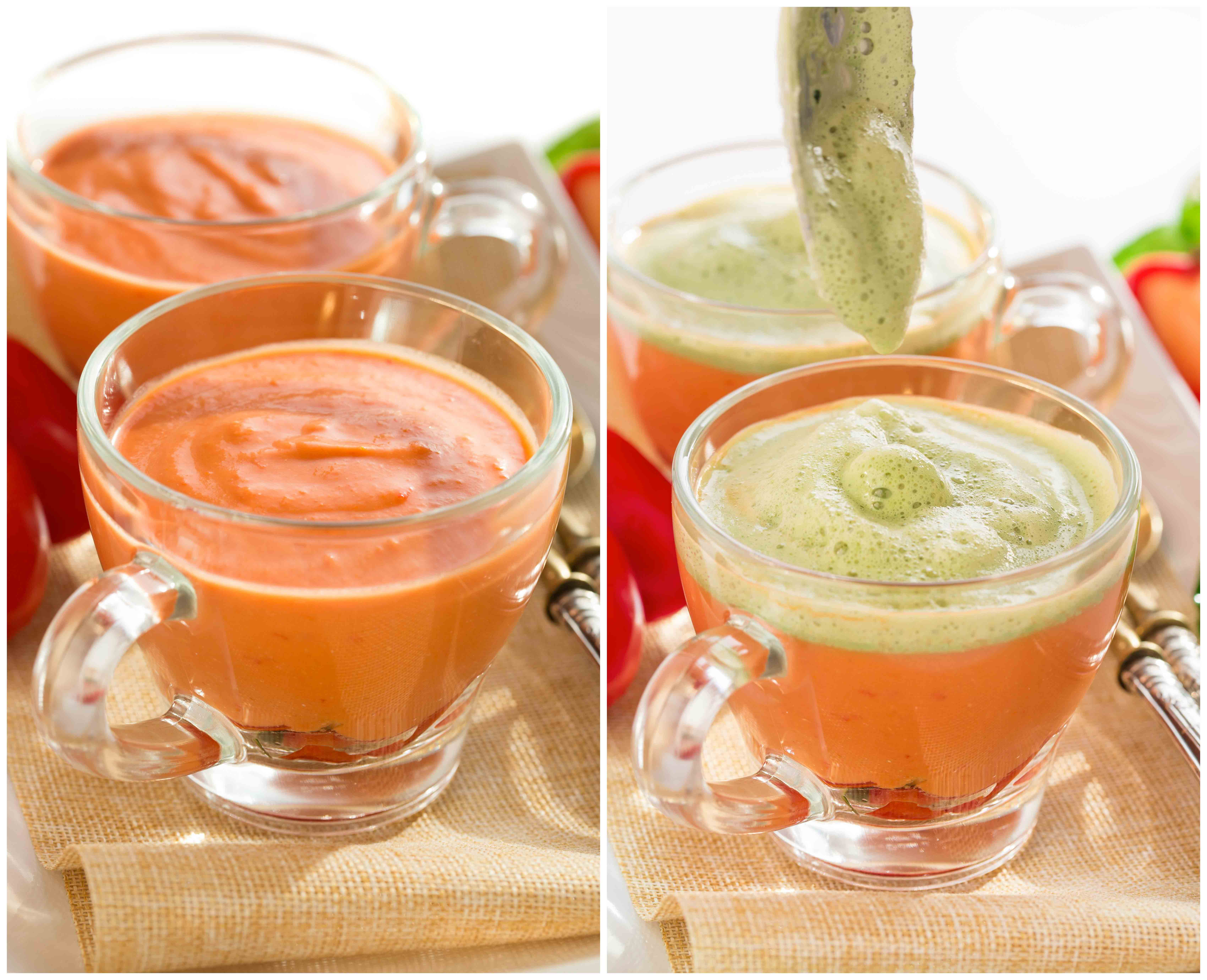 Gazpacho recipe with fresh basil foam vegan glutenfree - come preparare ricetta gazpacho con basilico
