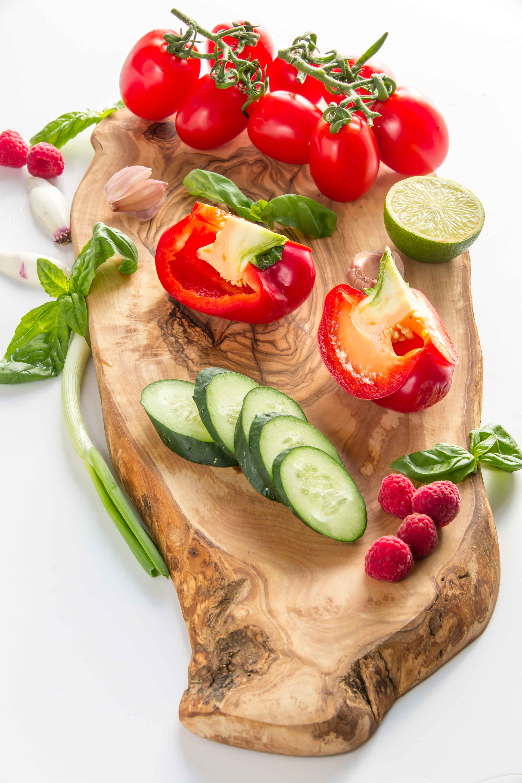 Gazpacho recipe with fresh basil foam vegan glutenfree - ricetta gazpacho con schiuma al basilico #vegan