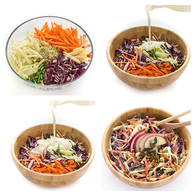 how to make vegan light coleslaw - come preparare la coleslaw vegan light ricetta