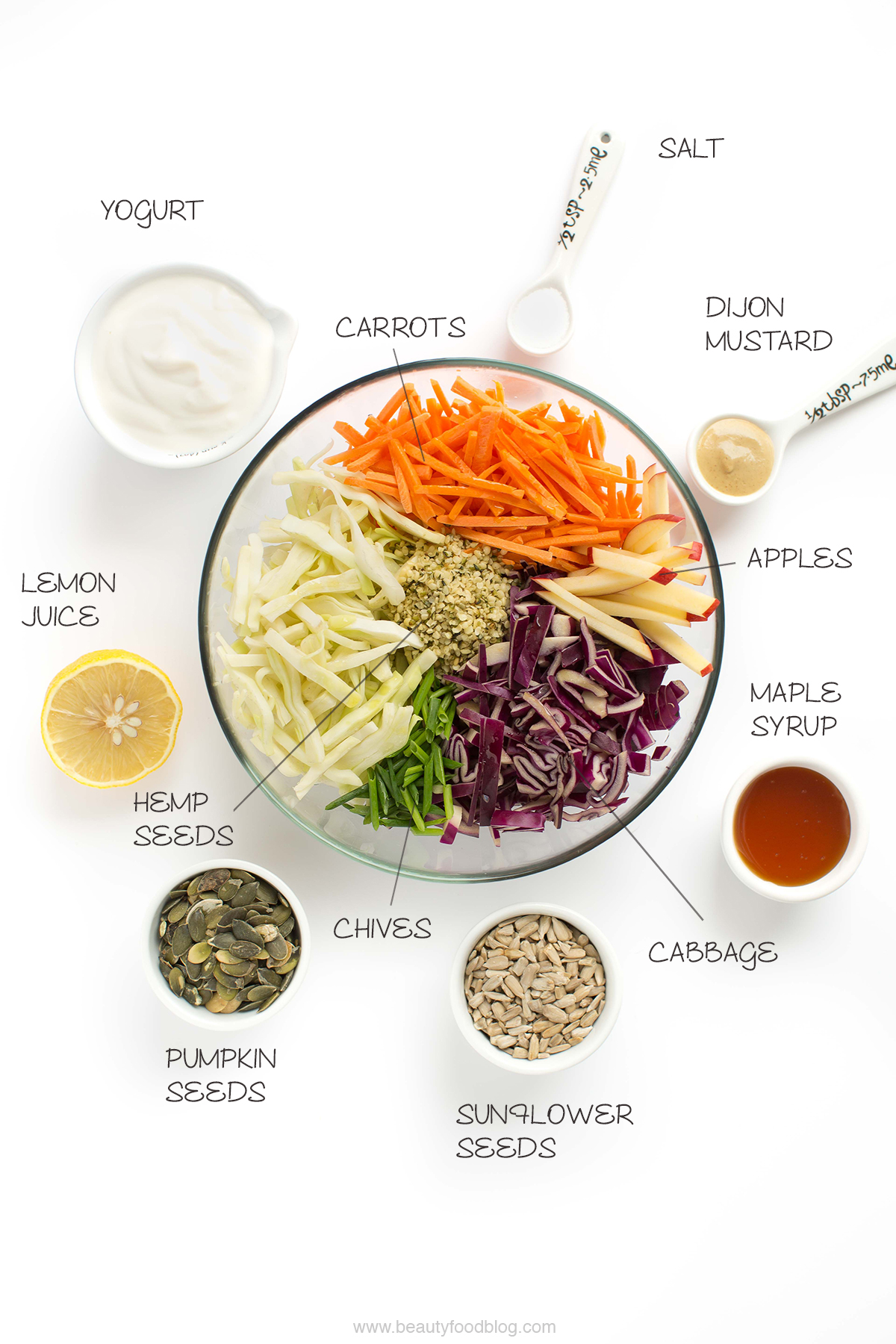 ingredienti ricetta coleslaw coleslaw recipe ingredients