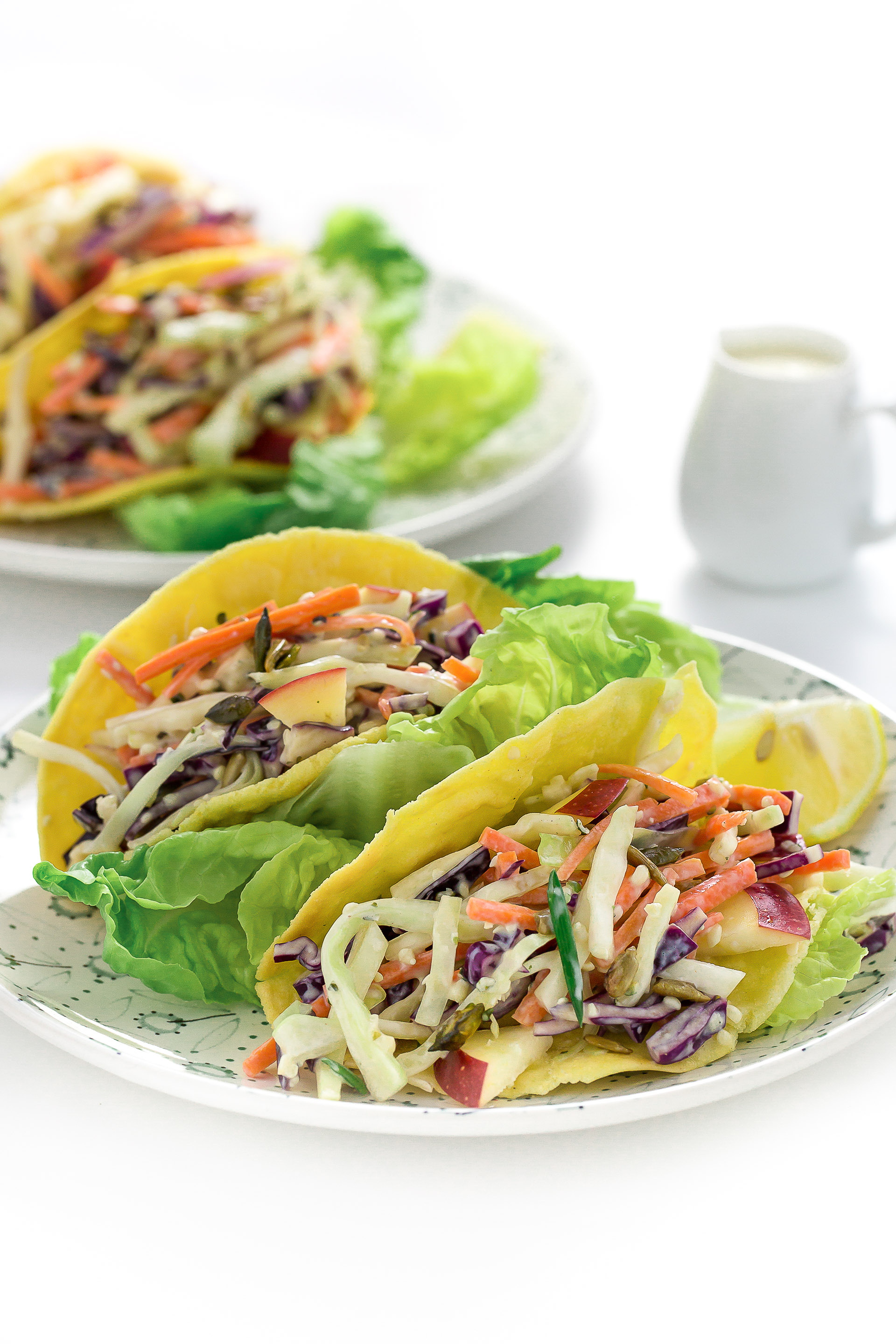ricetta coleslaw light con tacos e dressing allo yogurt - insalata cavolo cappuccio e carote- vegan coleslaw tacos recipe with yogurt dressing