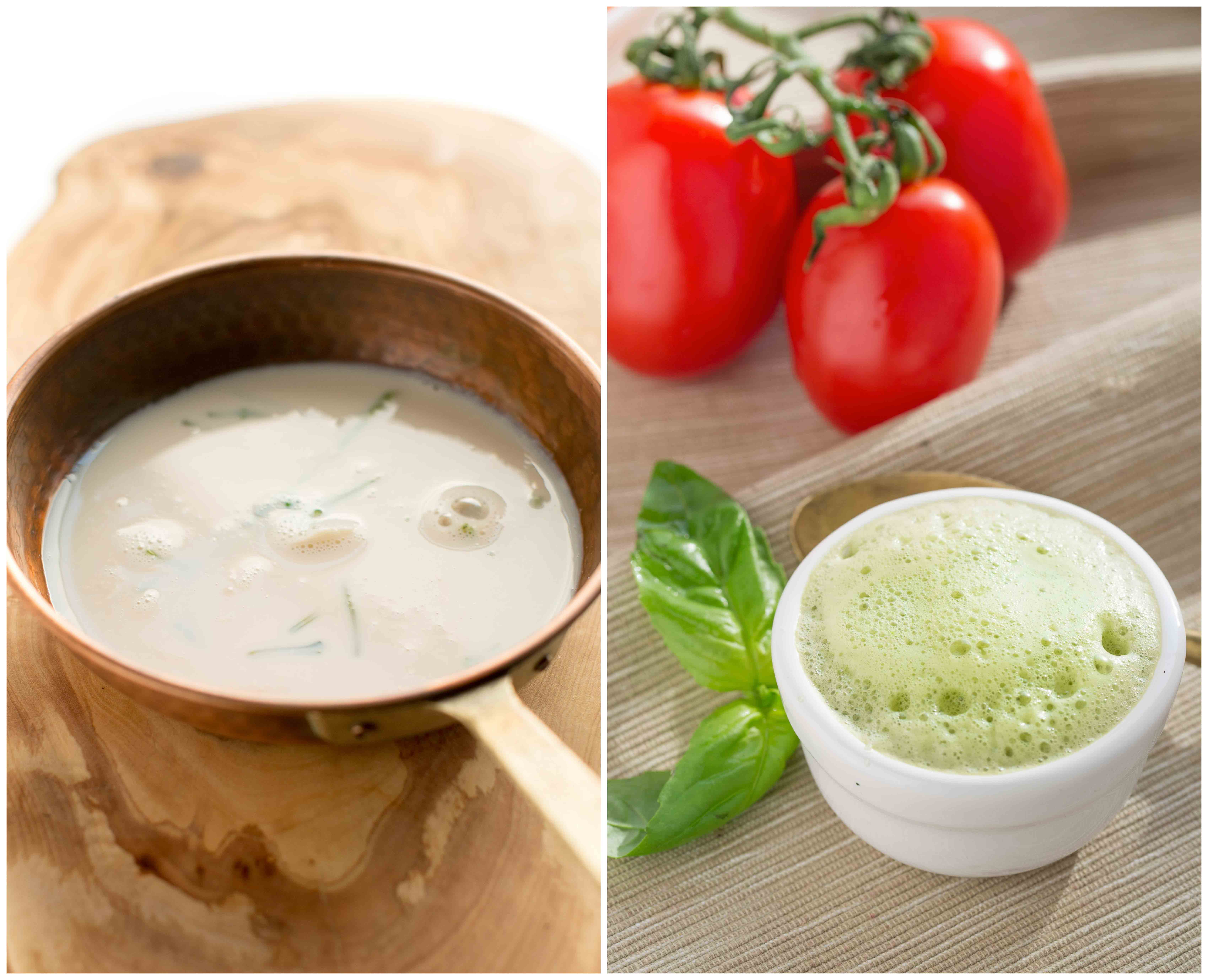 GAZPACHO recipe with fresh basil foam recipe | ricetta gazpacho schiuma al basilico