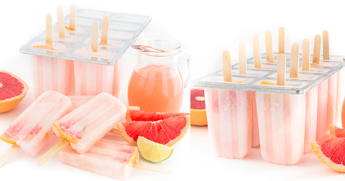 GHIACCIOLI al POMPELMO ROSA 3 ingredienti idratanti limonata al pompelmo - PINK GRAPEFRUIT POPSICLES facebook