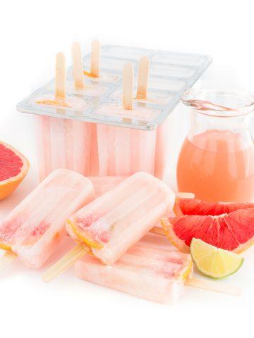 GHIACCIOLI al POMPELMO ROSA senza zucchero 3 ingredienti - #vegan PINK GRAPEFRUIT POPSICLES 3 INGREDIETS sugar-free