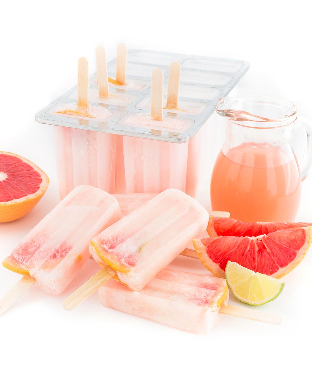 GHIACCIOLI al POMPELMO ROSA SENZA ZUCCHERO RAFFINATO – 3 ingredienti ( limonata al pompelmo )