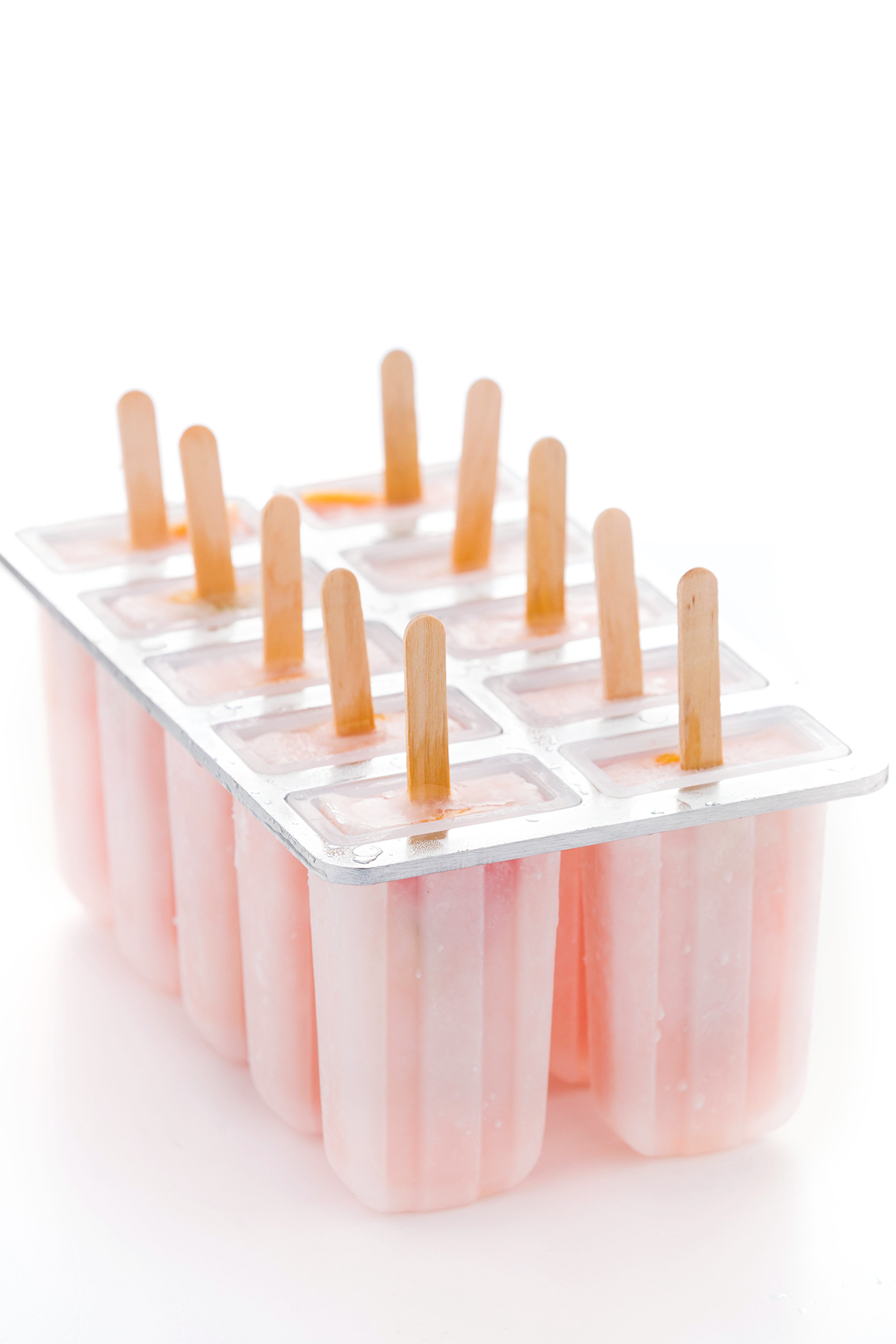 Ricetta GHIACCIOLI al POMPELMO senza zucchero - how to make PINK GRAPEFRUIT POPSICLES sugarfree