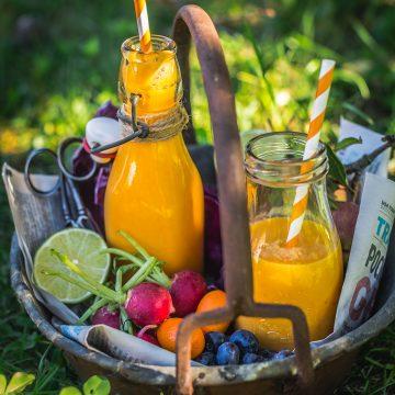 Tropical CARROT turmeric SMOOTHIE | smoothie carote e curcuma e melone abbronzante