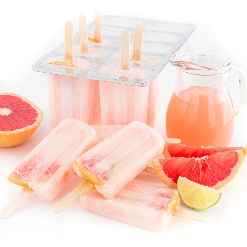 PINK GRAPEFRUIT POPSICLES 3 ingredients / refined sugar-free