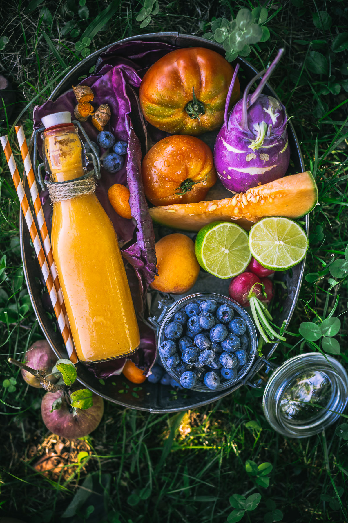 glowing skin CARROT turmeric tropical SMOOTHIE | smoothie carote e curcuma e melone vegan