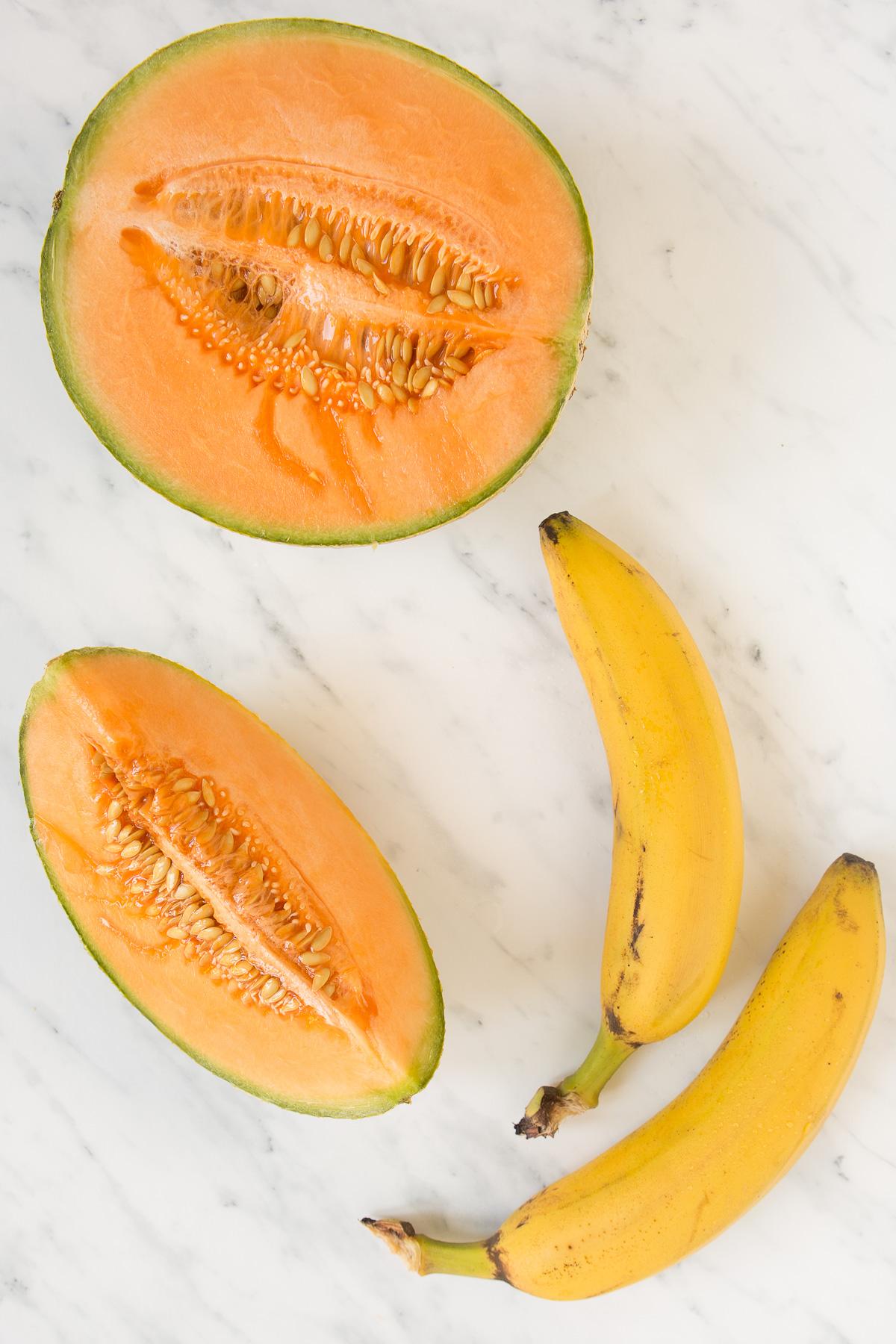 2 ingredients melon sorbet vegan + sugarfree recipe - 2 ingredienti ricetta sorbetto al melone light senza zucchero
