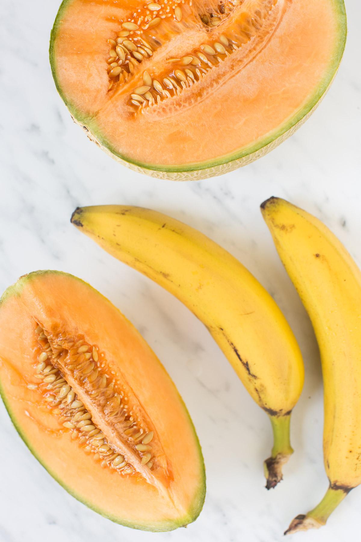 2 ingredients vegan sugarfree melon sorbet- 2 ingredienti sorbetto al melone senza zucchero