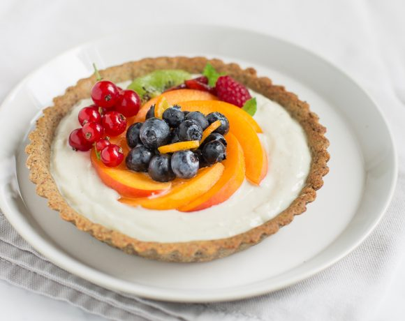 glutenfree vegan fresh fruit yogurt tart recipe - ricetta crostata allo yogurt e frutta fresca vegan senza glutine