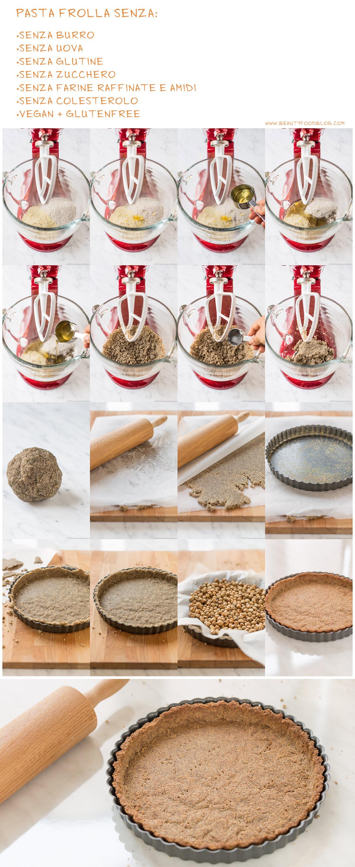 ricetta pasta frolla senza burro senza uova senza glutine senza zucchero vegan - how to make vegan glutenfree sugarfree no butter no coconut oil tart crust