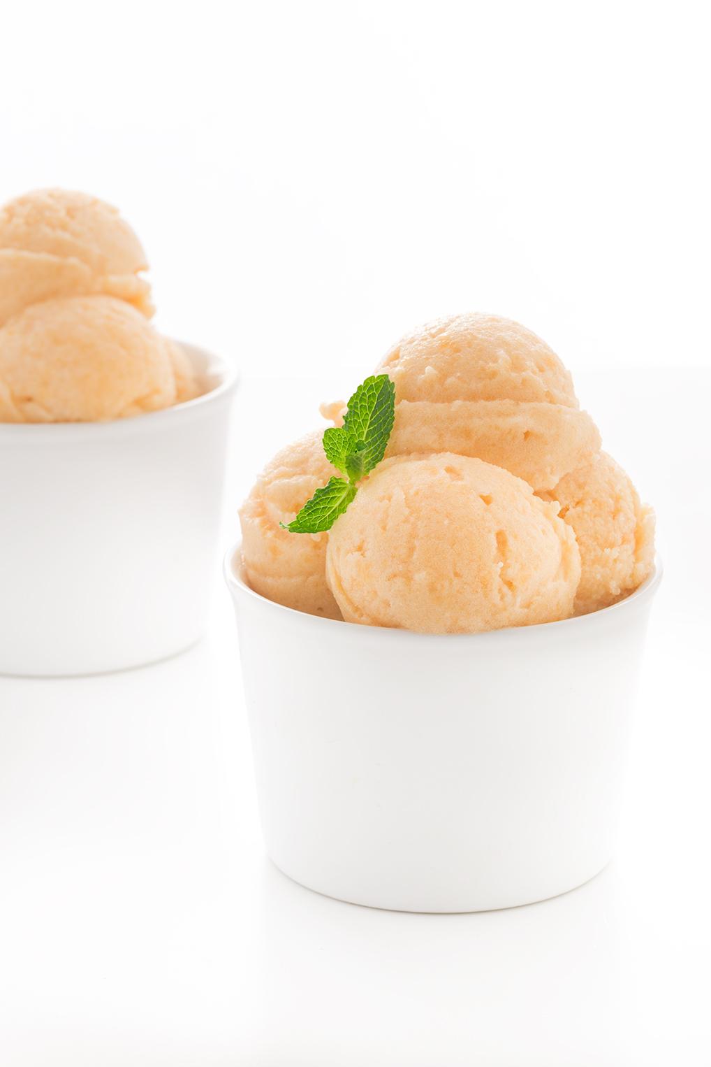 sorbetto al melone senza zucchero - vegan melon sorbet sugarfree recipe