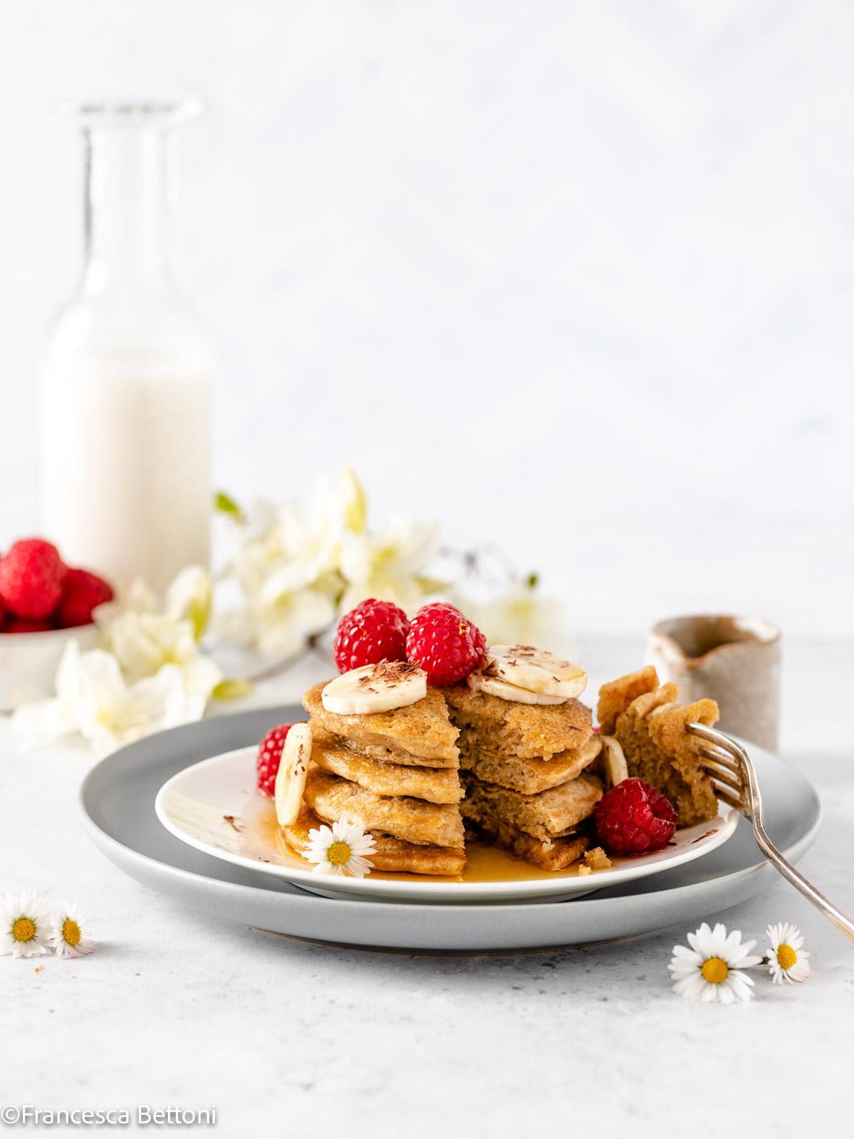PANCAKES LIGHT senza uova senza glutine all'avena vegan gluten-free oatmeal pancakes recipe