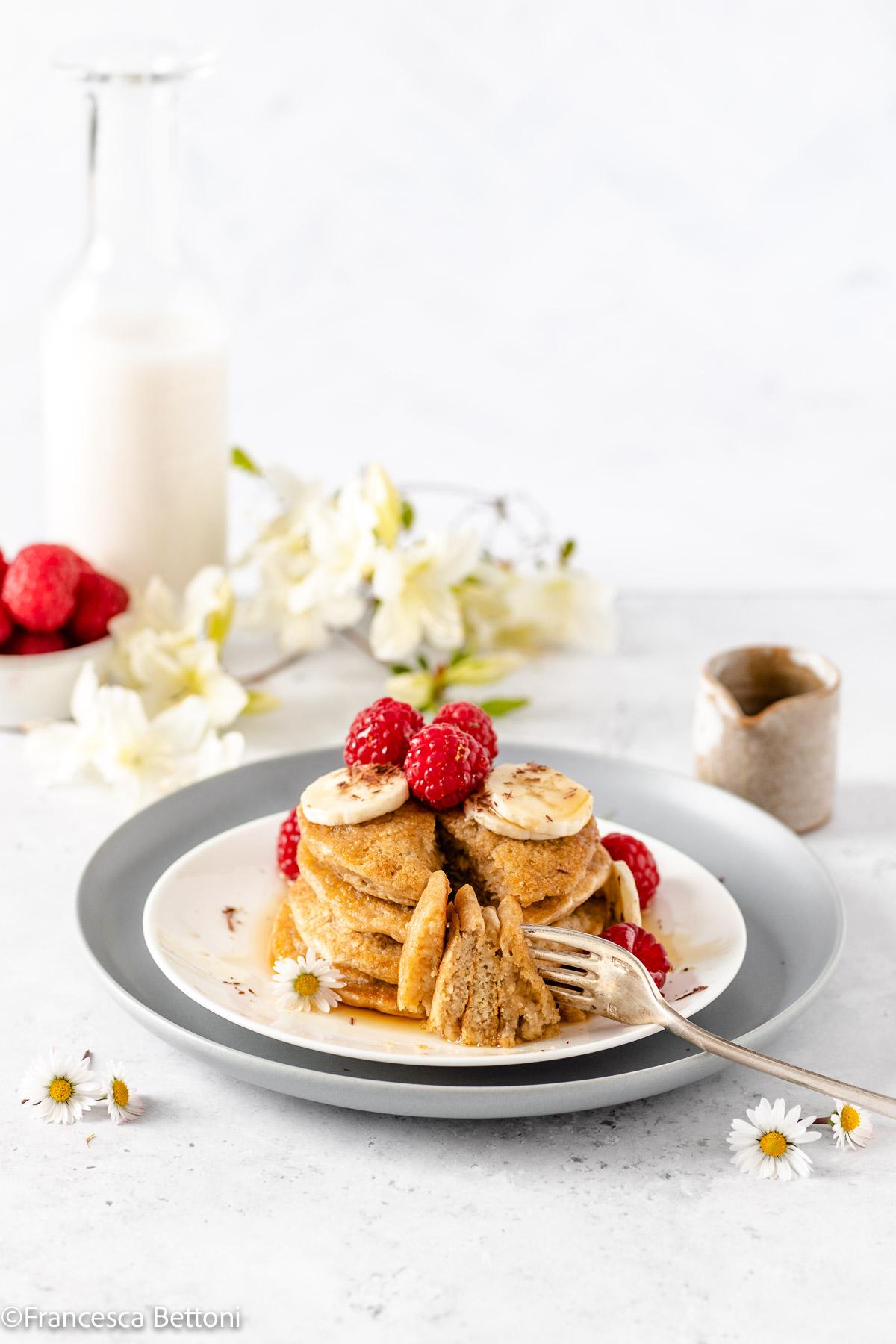 PANCAKES LIGHT senza uova senza glutine vegan gluten-free oatmeal pancakes recipe