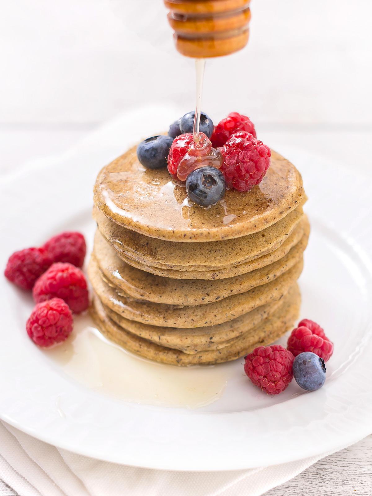 pancakes light senza uova senza burro senza glutine facili ricetta base pancakes vegan senza glutine al grano saraceno - easy vegan glutenfree buckwheat pancakes