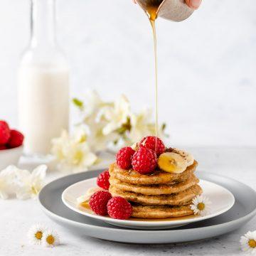 ricetta PANCAKES LIGHT senza uova senza glutine vegan gluten-free oatmeal pancakes