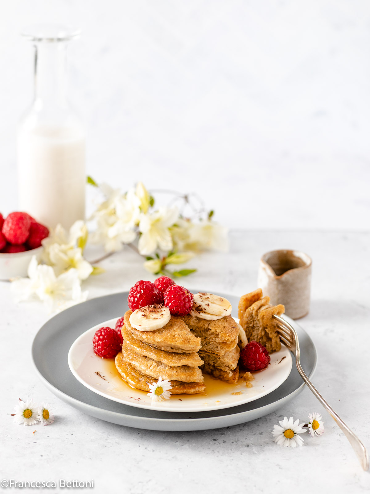 ricetta PANCAKES LIGHT senza uova senza glutine vegan gluten-free oatmeal pancakes recipe