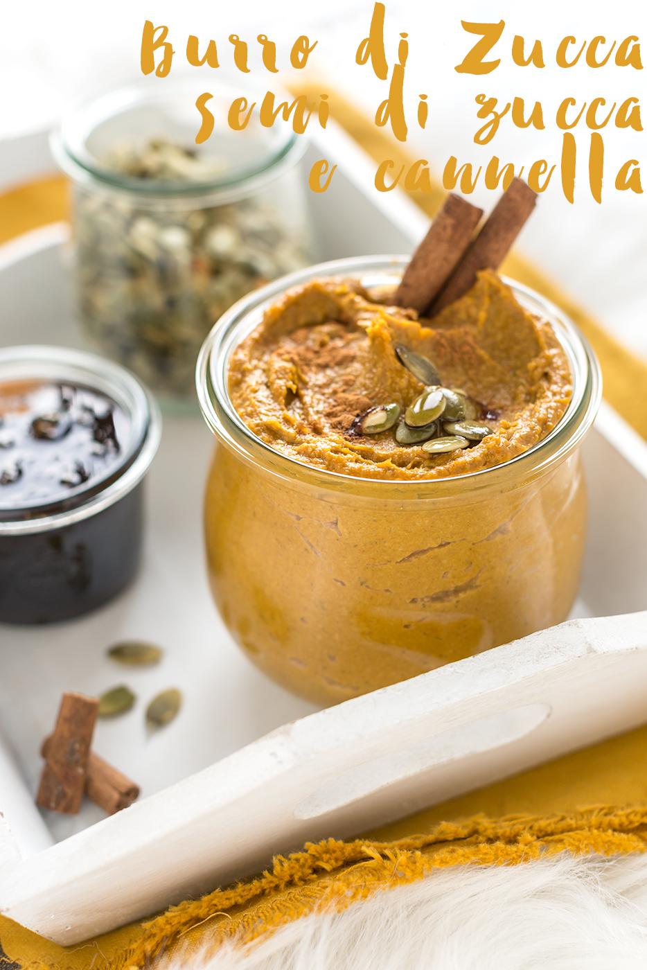 Christmas gift idea vegan pumpkin cinnamon butter - burro di zucca semi di zucca e cannella vegan senza zucchero idea diy natale ricetta