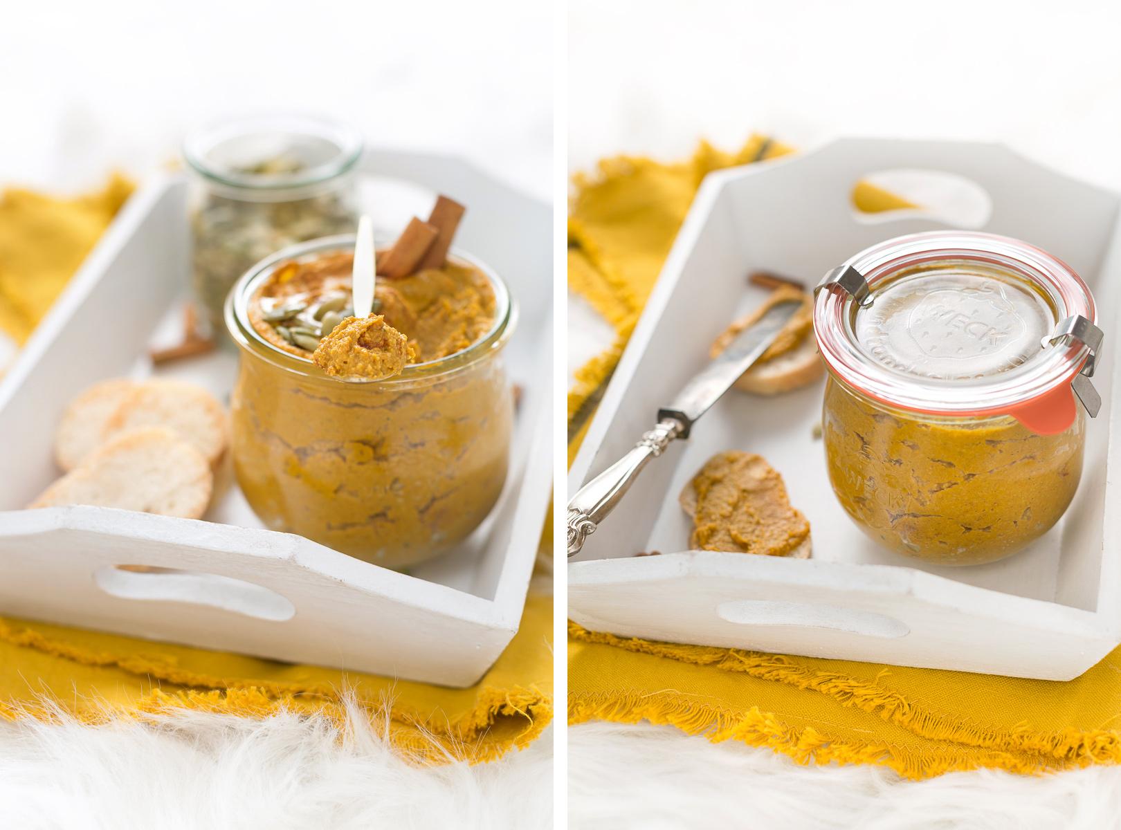 pumpkin cinnamon butter recipe - burro di zucca semi di zucca e cannella vegan senza zucchero light
