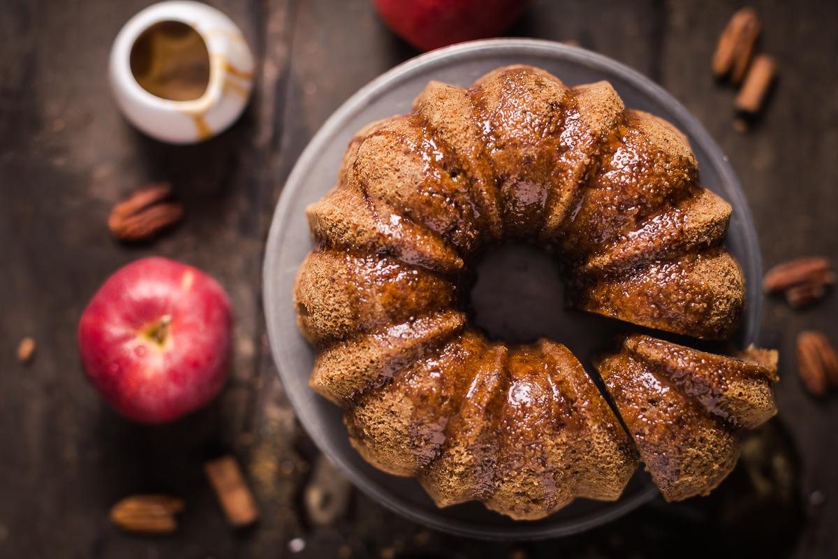 torta di mele senza glutine alla cannella e sciroppo d'acero senza burro senza uova vegan - vegan glutenfree cinnamon apple cake