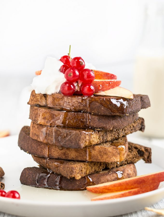 FRENCH TOAST VEGANO alla CANNELLA – al forno e senza glutine