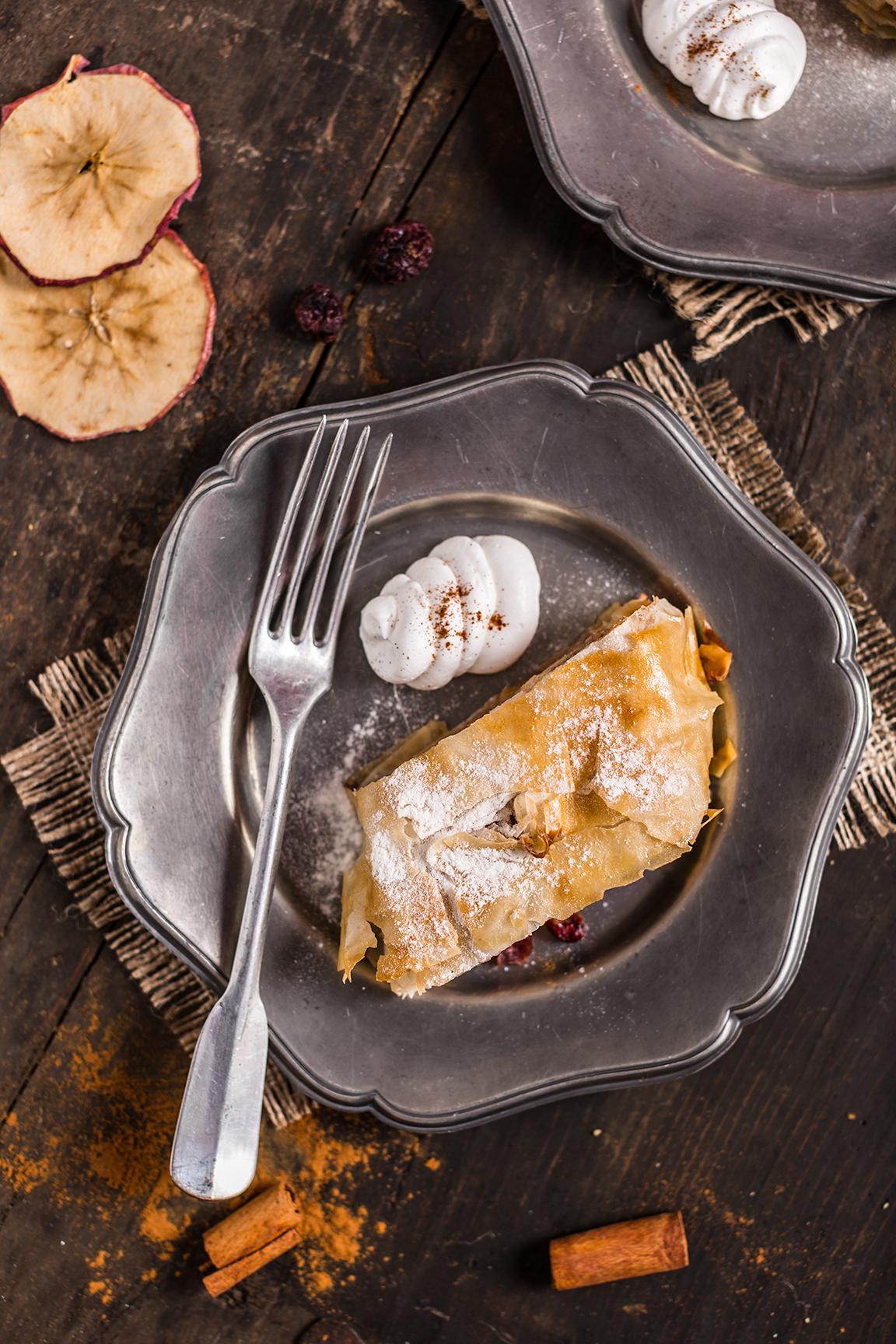 Helathy Vegan apple strudel recipe Ricetta Strudel di mele vegan senza uova senza burro ricetta light