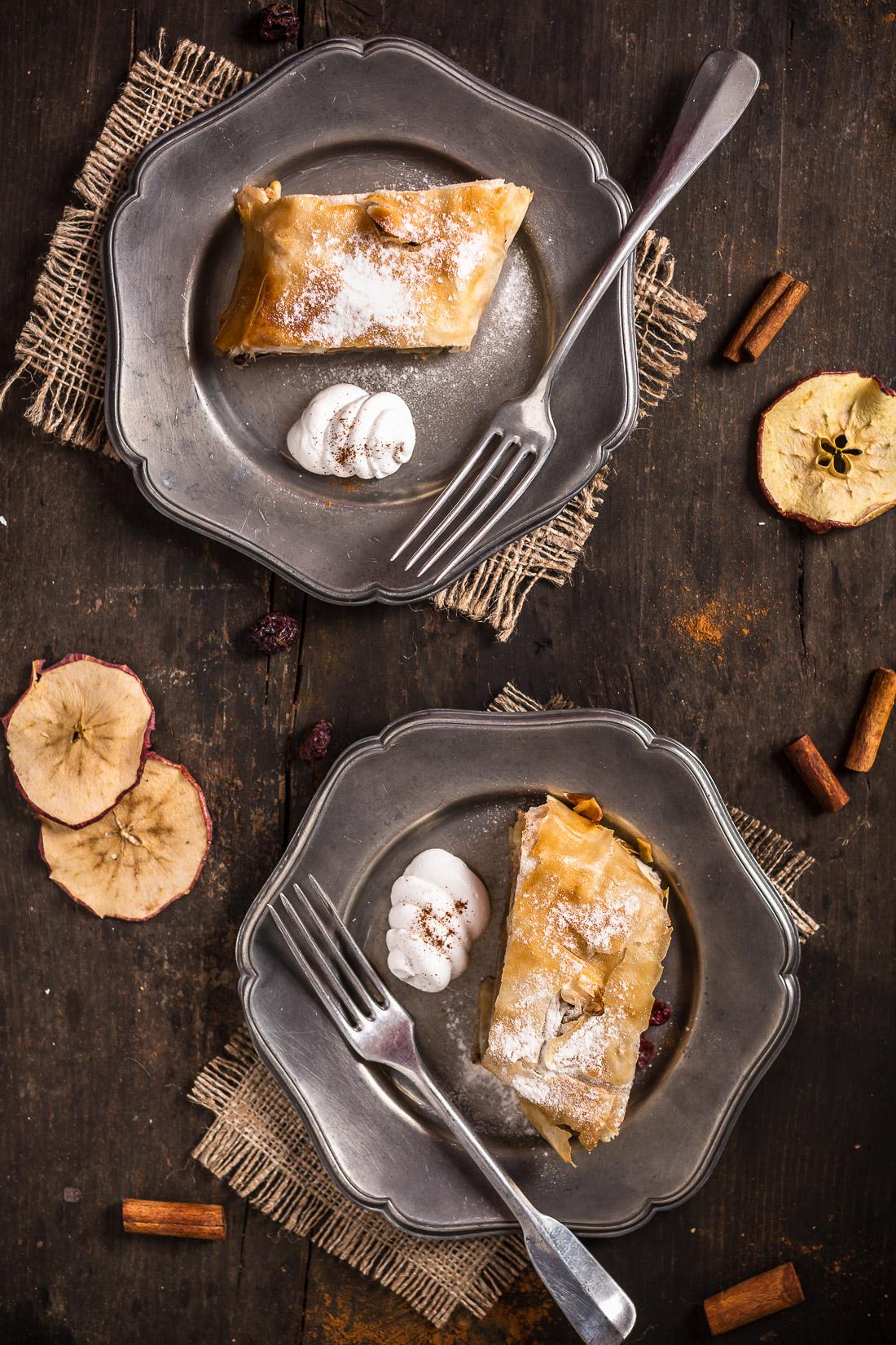 Vegan apple strudel recipe Ricetta Strudel di mele vegan apfelstrudel