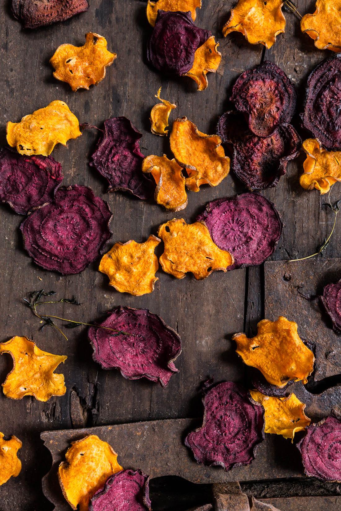 ricetta chips di barbabietola e patate dolci Hummus alla zucca con - pumpkin hummus recipe with beet and sweet potato chips