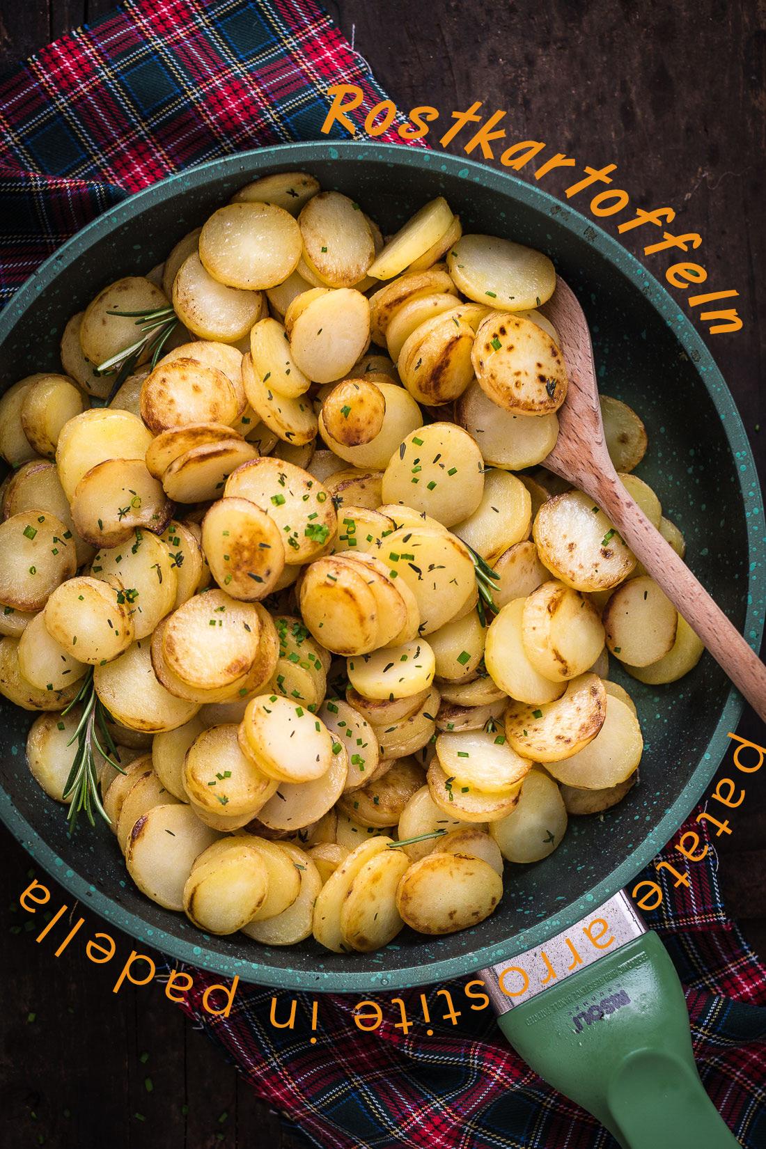 patate arrostite in padella light facili veloci - Rostkartoffeln tirolesi