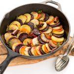 Ricetta RATATOUILLE INVERNALE di patate, barbabietola e zucca - Vegan AUTUMN TIAN Ratatouille with potato, beetroots and pumpkin